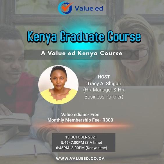 Kenya Graduate Course
