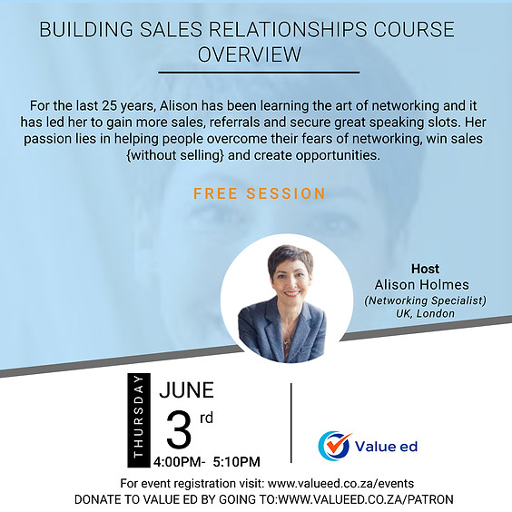 Building Sales Relationships Overview