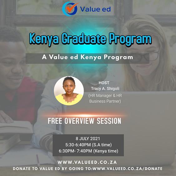 Kenya Graduate Program Overview