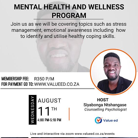 Mental Health and Wellness Program