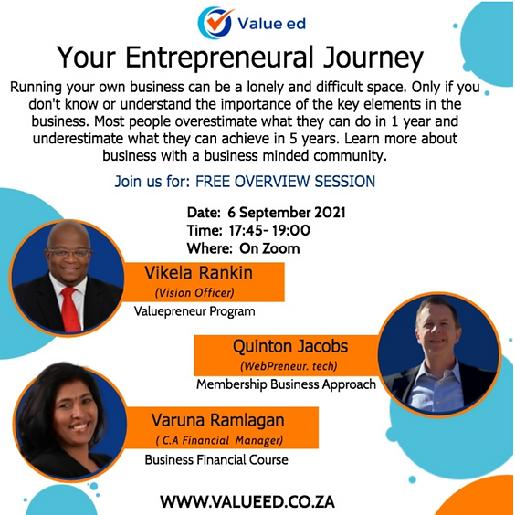 Your Career Advancement Entrepreneurial Journey Overview