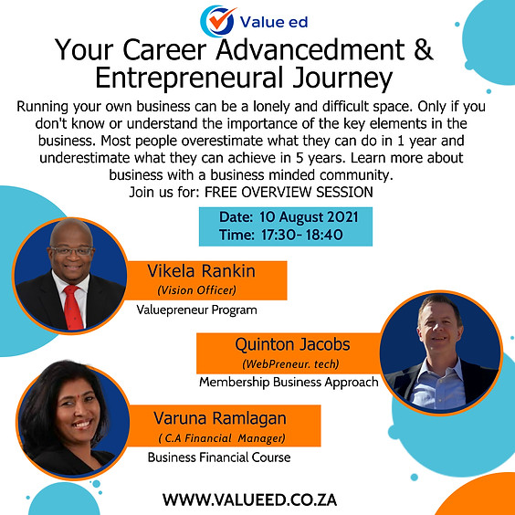 Your Career Advancement & Entrepreneurial Journey Overview