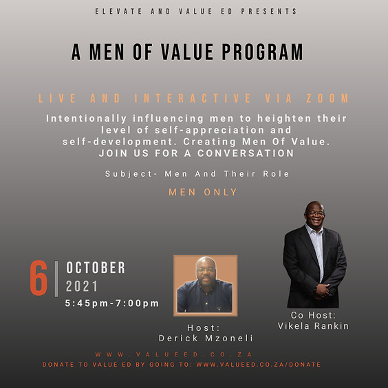 Men Of Value Program