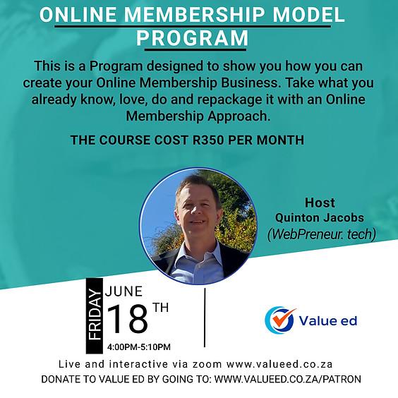 Online Membership Model Program