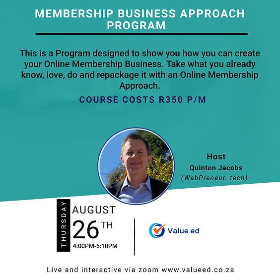 Membership Business Approach Program
