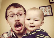 Josh and his son being goofy