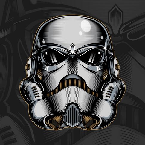 Stormtrooper Helm Illustration