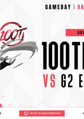 """100 Thieves """"Next Match"""" Grafik für Twitter"""