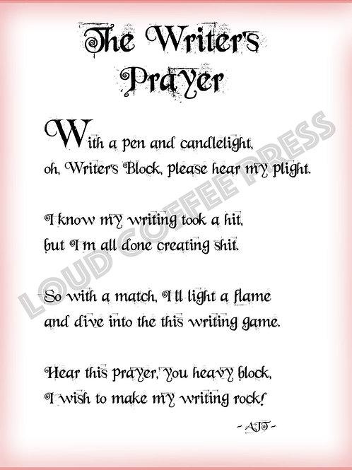 Writer's Prayer Poster