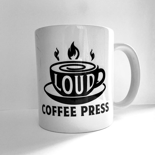 Official Loud Coffee Press Meta Mug - Black Logo