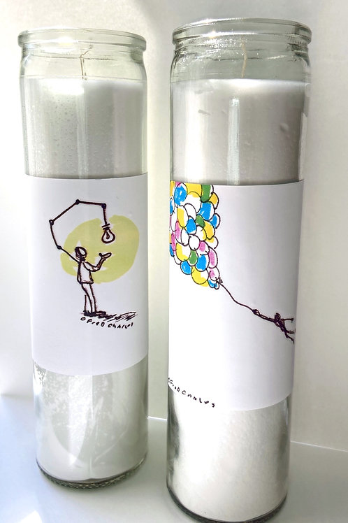 Fred Charles TinyArt Devotional Candles - Set of 2