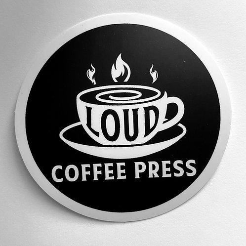 Official Loud Coffee Press Vinyl Logo Sticker