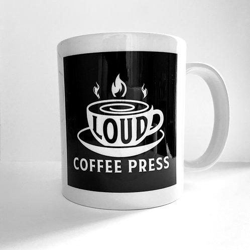 Official Loud Coffee Press Meta Mug - White Logo
