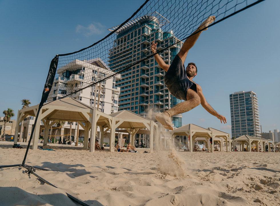 פוצ'יוולי רשת ים מיקאסה כדור טניס מתקפלת