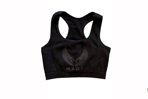 Black diamond sports bra