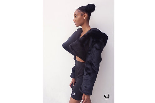 NIA CROPPED FUR JACKET