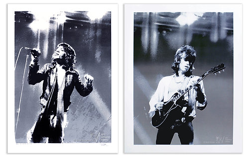 Mick Jagger and Keith Richards-NYC-1972 (Diptych)