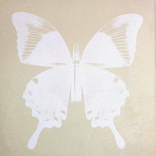 Pearl Butterfly On Beige