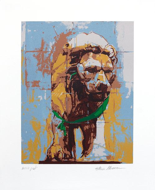 Portrait of a Lion (Green Ribbon)
