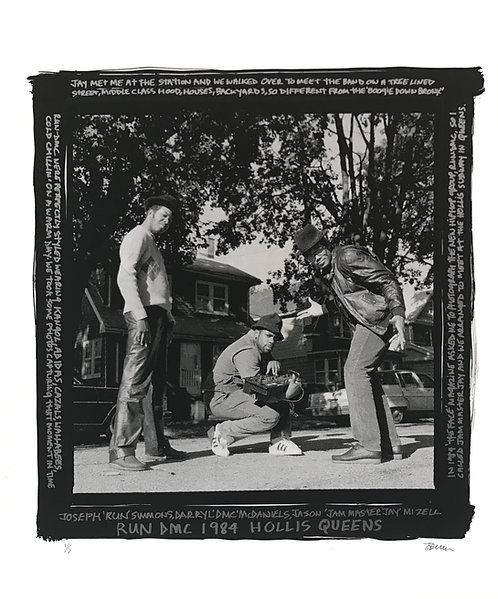 RUN DMC, 1984, Hollis, Queens (Black Border)