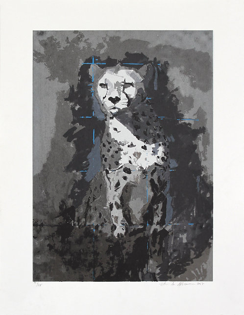 Cheetah, (Black & White)