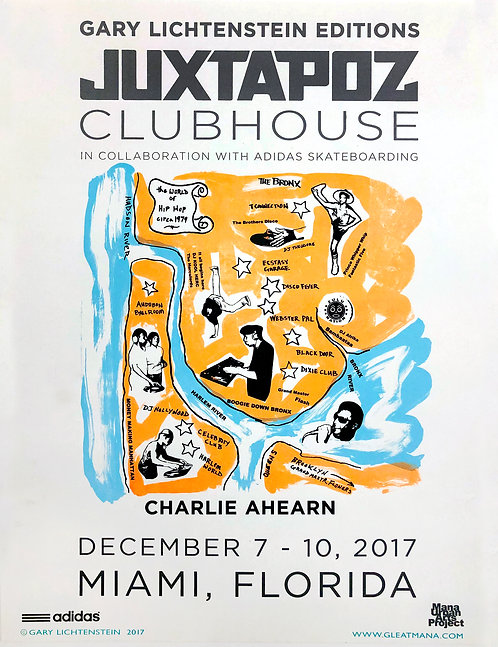 Juxtapoz Clubhouse (Charlie Ahearn) Poster