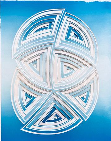 Blue Double Circle
