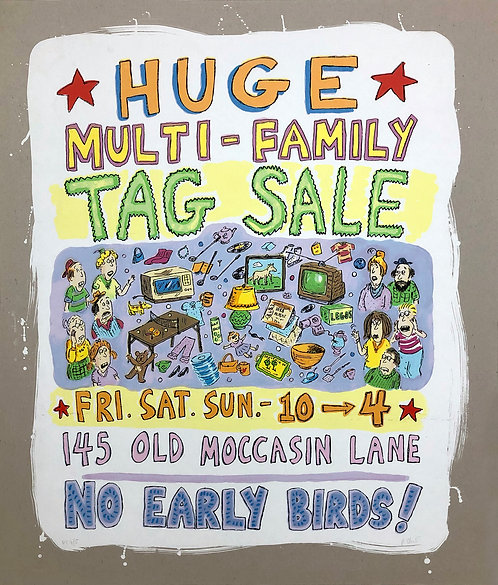 Roz Chast, Huge Multi Family Tag Sale Poster