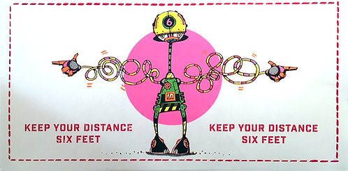 Eric Orr, Keep Your Distance | Six Feet Poster