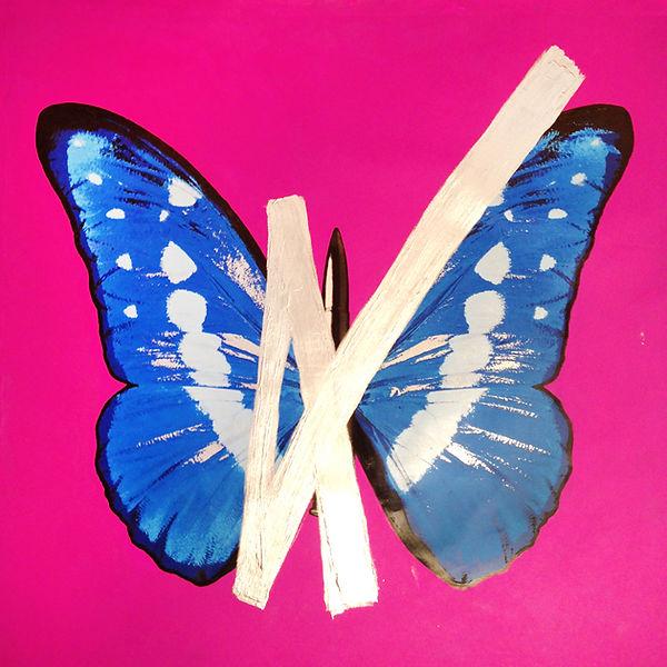 ButterflyOnPinkwithSilverCross.JPG