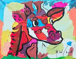 schilderen op bruiloft vrolijke dieren giraf