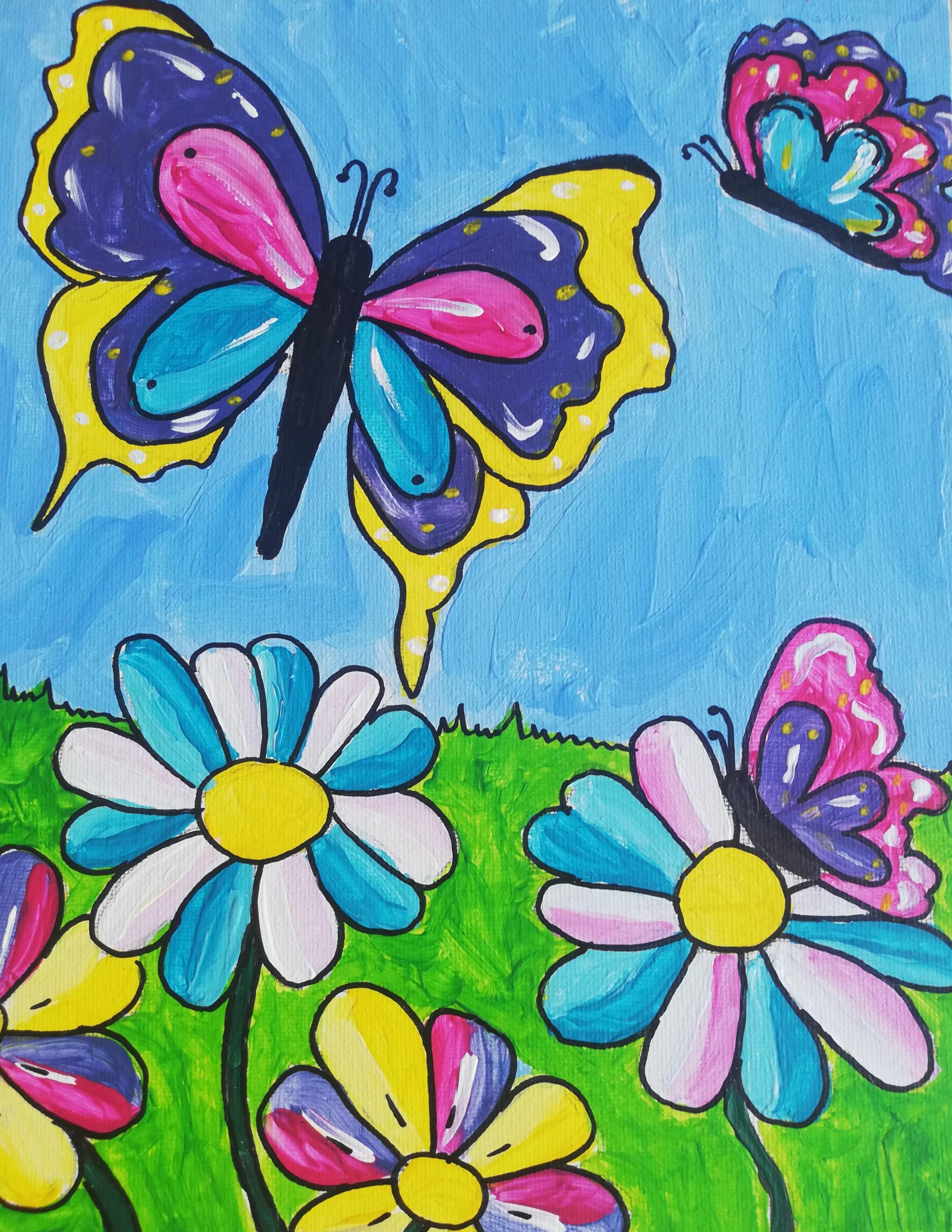 dikke dames vrolijke dieren vlinders