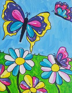 schilderen op bruiloft vrolijke dieren vlinders
