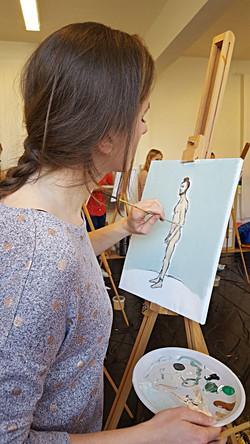 Workshop Naaktmodel schilderen