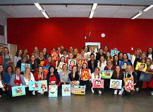 Dikke Dames schilderen Amsterdam