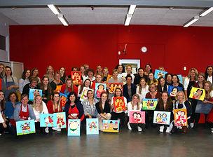Dikke Dames schilderen Den Haag