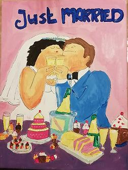 samen schilderen op bruiloft