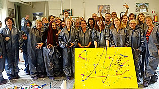 action painting rotterdam