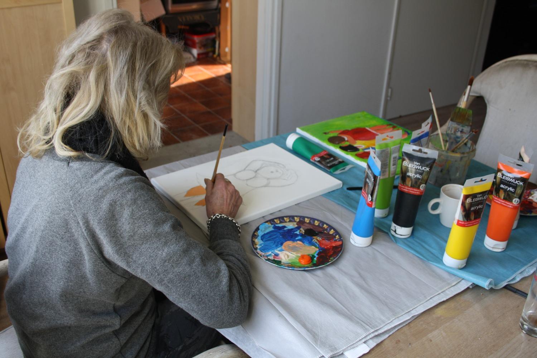 Workshop Dikke Dames schilderen