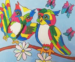 workshop puzzelschilderij vrolijke dieren uil