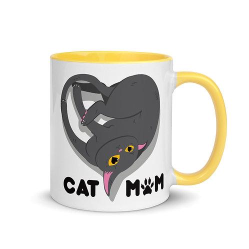 Cat Mom - Mug with Color Inside