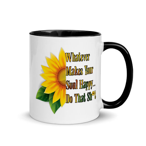 Happy Soul Sunflower - Mug with Color Inside
