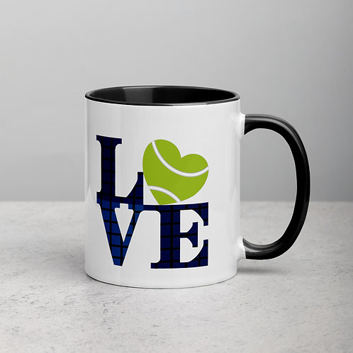 Tennis Love - Mug with Color Inside