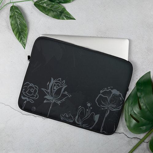 Black Flowers - Laptop Sleeve