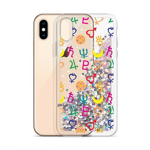 Sailor Scouts - Liquid Glitter iPhone Case
