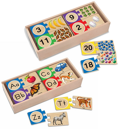 Wooden Letter & Number Puzzles