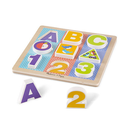 First Play ABC-123 Chunky Puzzle
