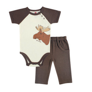 Organic Cotton Outfit - Moose
