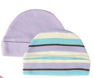 Organic Cotton Infant Hat, 2-Pack