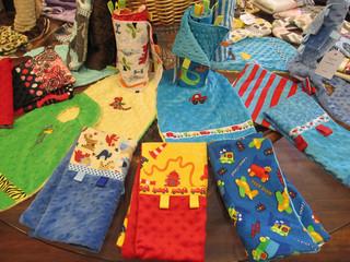 Handmade Snuggle Blankets & Bibs